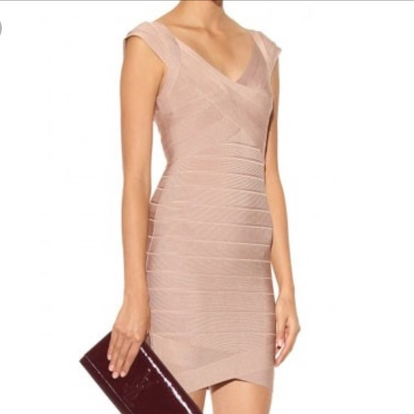 1cdf7db727b0 Herve Leger Dresses & Skirts - Herve Leger Nude Bandage Dress